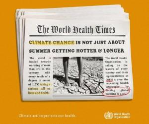 """Дүниежүзілік денсаулық сақтау ұйымы: """"Климаттың өзгеруі - денсаулыққа үлкен қауіп"""""""